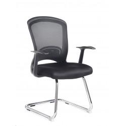 Solaris Fabric Mesh Visitor Chair SOL100C1-K